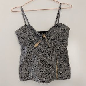 Anthropologie Odille Corset Style Tank Size 4
